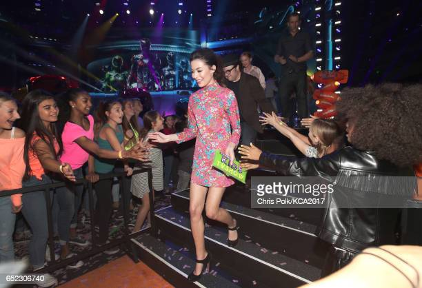 Actor Miranda Cosgrove onstage at Nickelodeon's 2017 Kids' Choice Awards at USC Galen Center on March 11 2017 in Los Angeles California