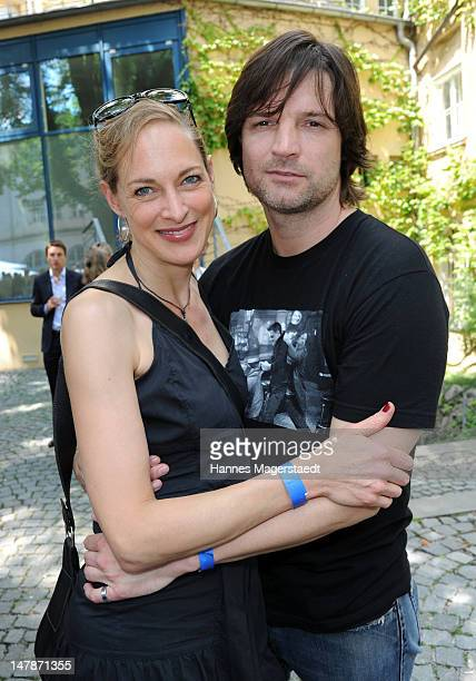 Actor Misel Maticevic and Sophie von Kessel attend the FFF Reception during the Munich Film Festival 2012 at the Praterinsel on July 5, 2012 in...