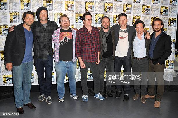 Actor Misha Collins actor Jared Padalecki producer Andrew Dabb producer Jeremy Carver actor Mark Sheppard actor Jensen Ackles actor Rob Benedict and...
