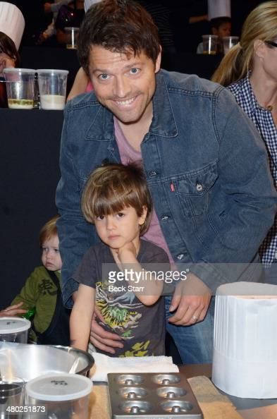 Actor Misha Collins and his son West Collins attend All ...
