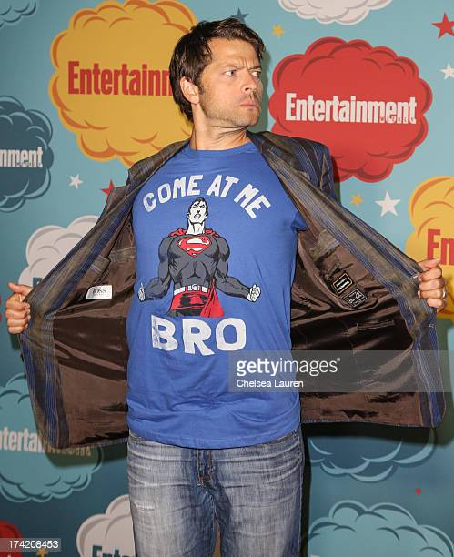 Actor Misha Collins arrives at Entertainment Weekly's annual ComicCon celebration at Float at Hard Rock Hotel San Diego on July 20 2013 in San Diego...