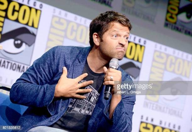 Actor Misha Collins at the Supernatural panel during ComicCon International 2017 at San Diego Convention Center on July 23 2017 in San Diego...