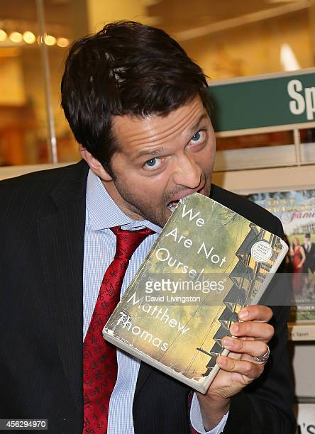 "Actor Misha Collins attends a signing for Matthew Thomas' book ""We Are Not Ourselves"" at Barnes & Noble bookstore at The Grove on September 28, 2014..."