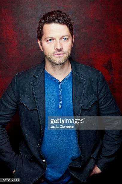 Actor Misha Collins of 'Supernatural' poses for a portrait at ComicCon International 2015 for Los Angeles Times on July 9 2015 in San Diego...