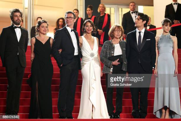 Actor Misha Lescot producer Florence Gastaud director Michel Hazanavicius actors Berenice Bejo Anne Wiazemsky Louis Garrel and Stacy Martin attend...