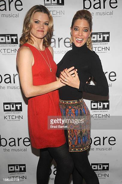 Actor Missi Pyle and Christina Moore attends BARE The Musical Opening Night After Party at Out Hotel on December 9 2012 in New York City