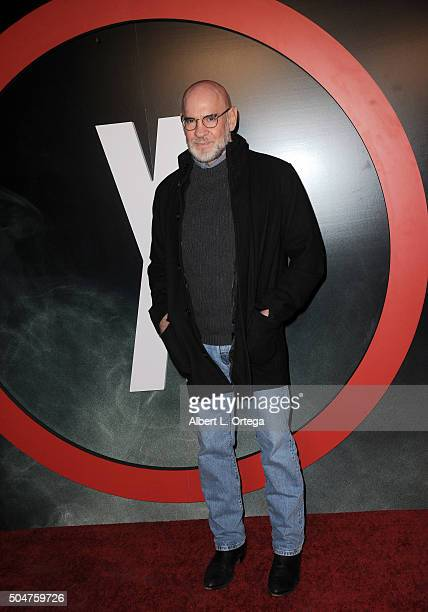 Actor Mitch Pileggi arrives for the premiere of Fox's The XFiles held at California Science Center on January 12 2016 in Los Angeles California