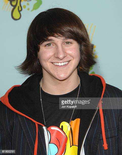 Actor Mitchel Musso arrives at Nickelodeon's 2008 Kids' Choice Awards at the Pauley Pavilion on March 29 2008 in Los Angeles California
