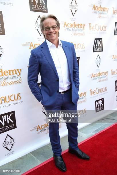 Actor Mitchell Anderson attends the 6th International Academy of Web Television Awards at Skirball Cultural Center on August 24 2018 in Los Angeles...