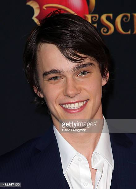 Actor Mitchell Hope attends the premiere of Disney's 'Descendants' at Walt Disney Studios main theater on July 24 2015 in Burbank California