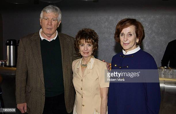 Actor Mitchell Ryan actress Margaret O'Brien SAG Foundation executive director Marcia Smith pose for a photograph during the Screen Actors Guild's...