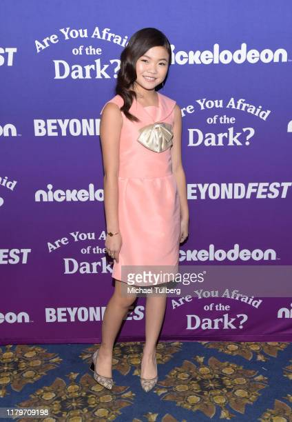 "Actor Miya Cech attends the premiere of Nickelodeon's ""Are You Afraid of the Dark?"" at 2019 Beyond Fest at the Egyptian Theatre on October 07, 2019..."