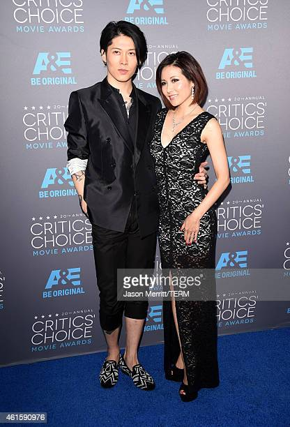 Actor Miyavi and Melody Ishihara attend the 20th annual Critics' Choice Movie Awards at the Hollywood Palladium on January 15, 2015 in Los Angeles,...