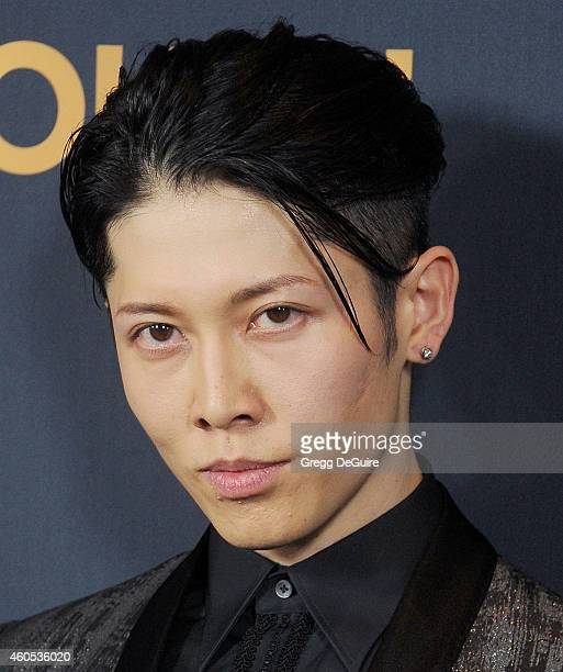 Actor Miyavi arrives at the Los Angeles premiere of 'Unbroken' at The Dolby Theatre on December 15 2014 in Hollywood California