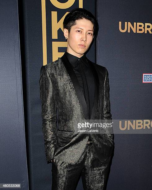 Actor Miyavi attends the premiere of 'Unbroken' at TCL Chinese Theatre IMAX on December 15 2014 in Hollywood California
