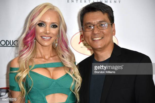 Actor / model Angel Monroe and producer James Su attend the theatrical release of Indican Pictures' Jasmine at Laemmle Monica Film Center on June 16...