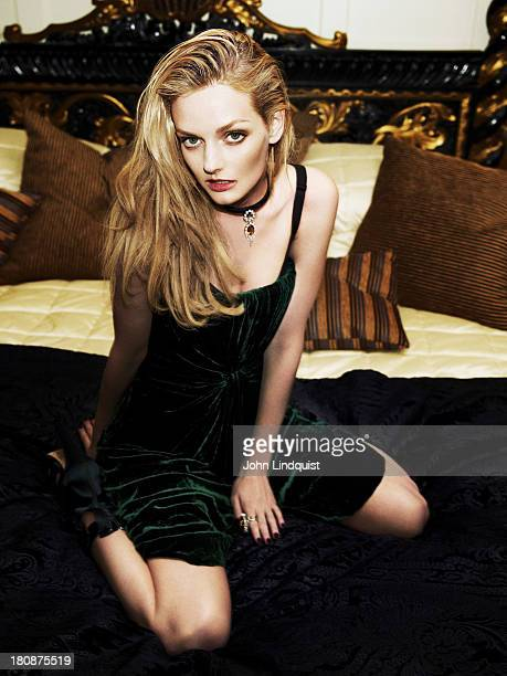 Actor model columnist socialite and heiress Lydia Hearst is photographed for Vogue Russia on September 17 2012 in London England