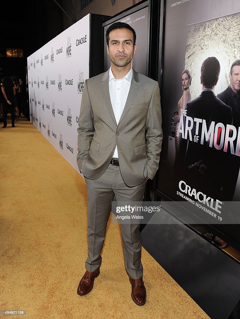 Actor Mohammad Saad Siddiqui arrives at the premiere of Crackle's 'The Art of More' at Sony Pictures Studios on October 29, 2015 in Culver City, California.