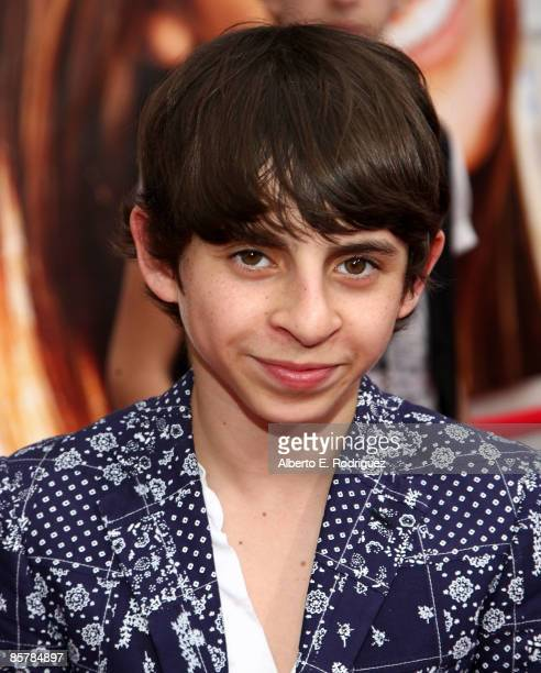 Actor Moises Arias arrives at the premiere of Walt Disney Picture's 'Hannah Montana The Movie' held at the El Captian Theatre on April 2 2009 in...