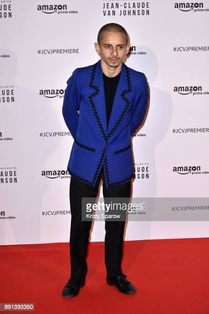 Actor Moises Arias attends the Amazon TV series 'Jean Claude Van Johnson' Premiere at Le Grand Rex on December 12 2017 in Paris France