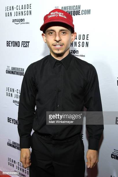 Actor Moises Arias attends the Beyond Fest screening and Cast/Creator panel of Amazon Prime Video's exclusive series 'JeanClaude Van Johnson' at the...