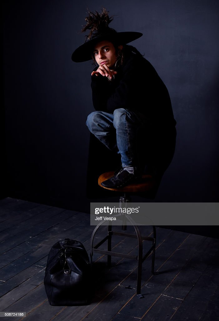 Actor Moises Arias from the film 'The Land' poses for a portrait during the WireImage Portrait Studio hosted by Eddie Bauer at Village at The Lift on January 25, 2016 in Park City, Utah.