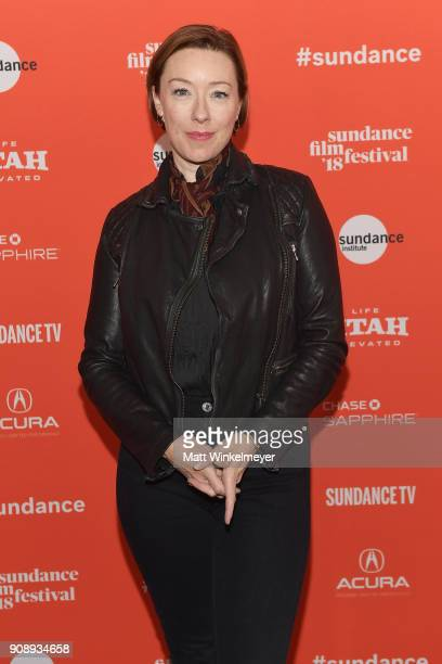 Actor Molly Parker attends the 'Madeline's Madeline' Premiere during the 2018 Sundance Film Festival at Park City Library on January 22 2018 in Park...