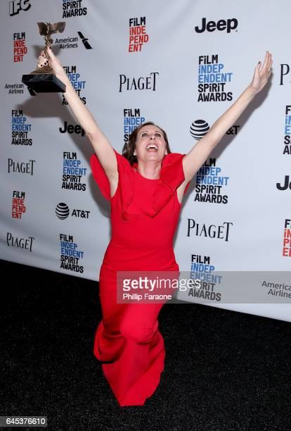 Actor Molly Shannon winner of the Best Supporting Female award for 'Other People' poses in the press room during the 2017 Film Independent Spirit...