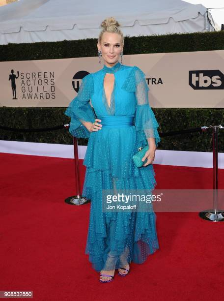 Actor Molly Sims attends the 24th Annual Screen ActorsGuild Awards at The Shrine Auditorium on January 21 2018 in Los Angeles California
