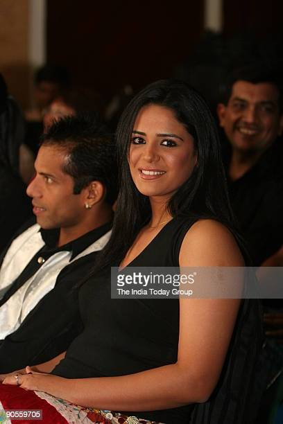 Actor Mona Singh during the launch of ' Jhalak Dikhhla jaa ' a TV dance programme at Shangri La hotel