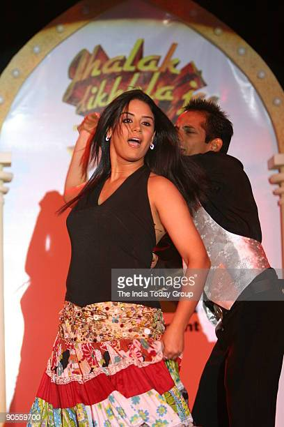 Actor Mona Singh performing during the launch of ' Jhalak Dikhhla jaa ' a TV dance programme at Shangri La hotel