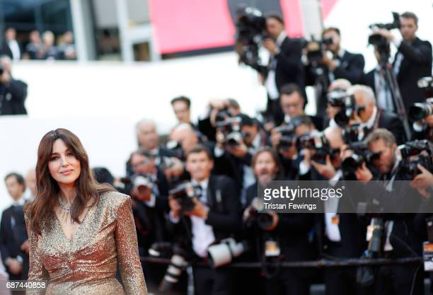 Actor Monica Bellucci attends the 70th Anniversary of the 70th annual Cannes Film Festival at Palais des Festivals on May 23 2017 in Cannes France