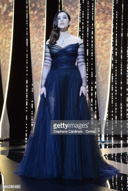 Actor Monica Bellucci attends the 'Ismael's Ghosts ' screening and Opening Gala during the 70th annual Cannes Film Festival at Palais des Festivals...