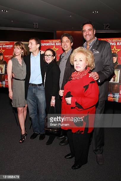 Actor Monica Horan Producer Phil Rosenthal Actors Patricia Heaton Ray Romano Doris Roberts and Brad Garrett arrives at the Los Angeles Premiere of...
