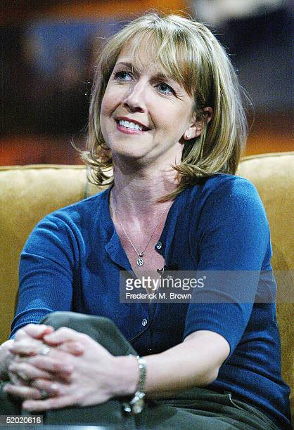 Actor Monica Horan speaks during the CBS 2005 Television Critics Winter Press Tour at the Hilton Universal Hotel on January 18 2005 in Universal City...