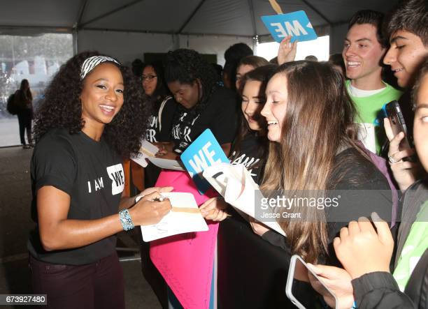 Actor Monique Coleman attends WE Day California to celebrate young people changing the world at The Forum on April 27, 2017 in Inglewood, California.