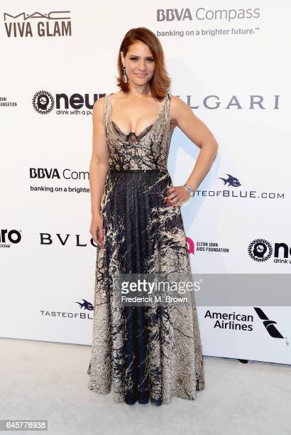 Actor Monique Gabriela Curnen attends the 25th Annual Elton John AIDS Foundation's Academy Awards Viewing Party at The City of West Hollywood Park on...
