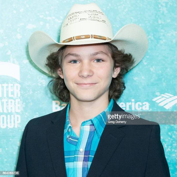 Actor Montana Jordan arrives at the Opening Night Of Bright Star at Ahmanson Theatre on October 20 2017 in Los Angeles California