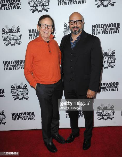 Actor Monte Markham and writer/director Chris Roe arrive for The 2019 Hollywood Reel Independent Film Festival held at Regal LA Live Stadium 14 on...