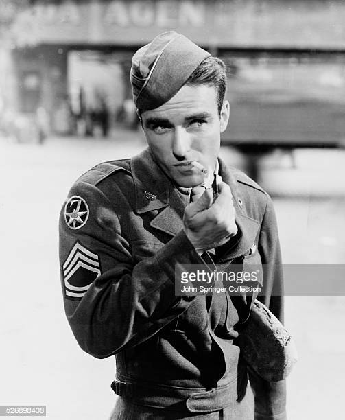 Actor Montgomery Clift as Danny MacCullough in the 1950 film The Big Lift