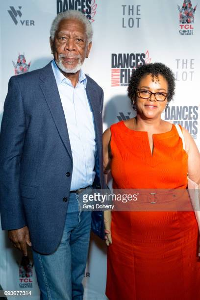 "Actor Morgan Freeman and Deena Adair attend the ""Landing Up"" World Premiere during 20th Annual Dances With Films at TCL Chinese 6 Theatres on June 7,..."