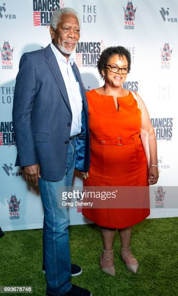 Actor Morgan Freeman and Deena Adair attend the Landing Up World Premiere during 20th Annual Dances With Films at TCL Chinese 6 Theatres on June 7...