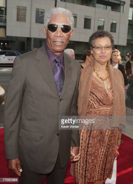 """Actor Morgan Freeman and his wife Myrna Colley-Lee arrive at the premiere of MGM's """"Feast of Love"""" at the Academy of Motion Picture Arts and Sciences..."""