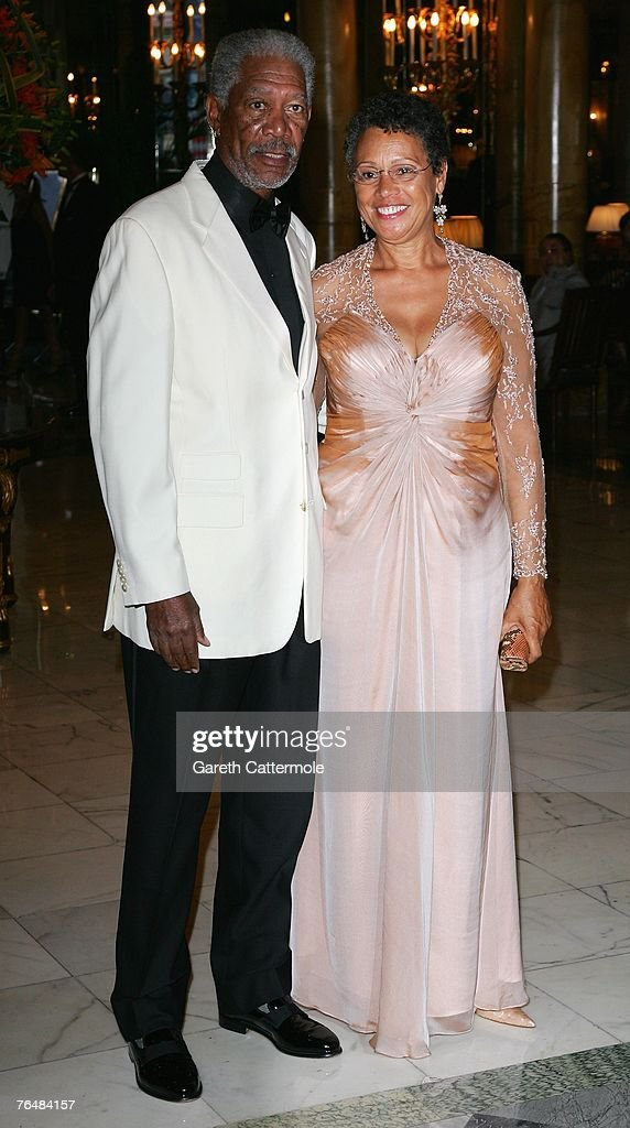 Actor Morgan Freeman and his wife, Myrna Colley-Lee arrive at the 'Unite For A Better World Gala Dinner' on September 2, 2007 at the Hotel de Paris in Monte Carlo, Monaco. The gala dinner is attended by over 350 guests, which will raise funds for the Amade Mondiale, the Nelson Mandela Foundation, the Nelson Mandela Children's Fund, and The Mandela Rhodes Foundation.