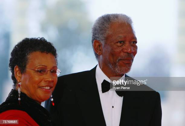 Actor Morgan Freeman and his wife, Myrna Colley-Lee attend the Laureus Sports Awards at the Palau Sant Jordi on April 2, 2007 in Barcelona, Spain.