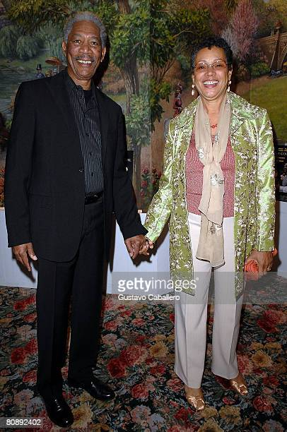 Actor Morgan Freeman and wife Myrna Colley Lee attend the opening night after party for the revival of 'The Country Girl' on Broadway at Tavern On...