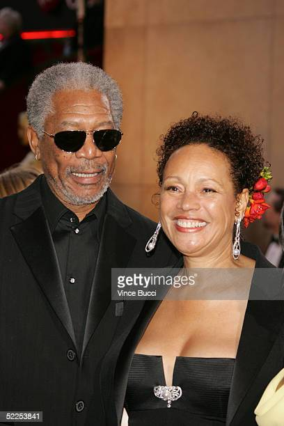 Actor Morgan Freeman and wife Myrna Colley-Lee arrive at the 77th Annual Academy Awards at the Kodak Theater on February 27, 2005 in Hollywood,...