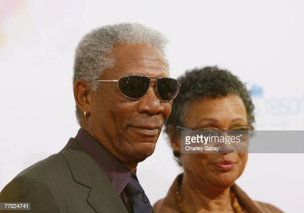 """Actor Morgan Freeman and wife Myrna Colley-Lee arrive at the premiere of MGM's """"Feast of Love"""" at The Academy of Motion Picture Arts and Sciences..."""