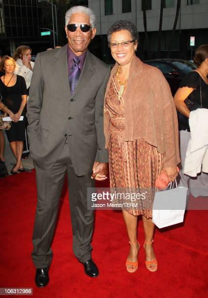 """Actor Morgan Freeman and wife Myrna Colley-Lee arrives at the """"Feast of Love"""" premiere at the Academy of Motion Pictures Art and Sciences on..."""