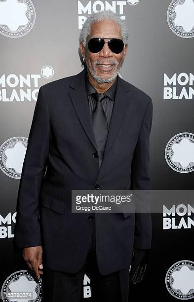 Actor Morgan Freeman arrives at Montblanc's 2012 Montblanc De La Culture Arts Gala Honoring Quincy Jones at Chateau Marmont on October 2 2012 in Los...